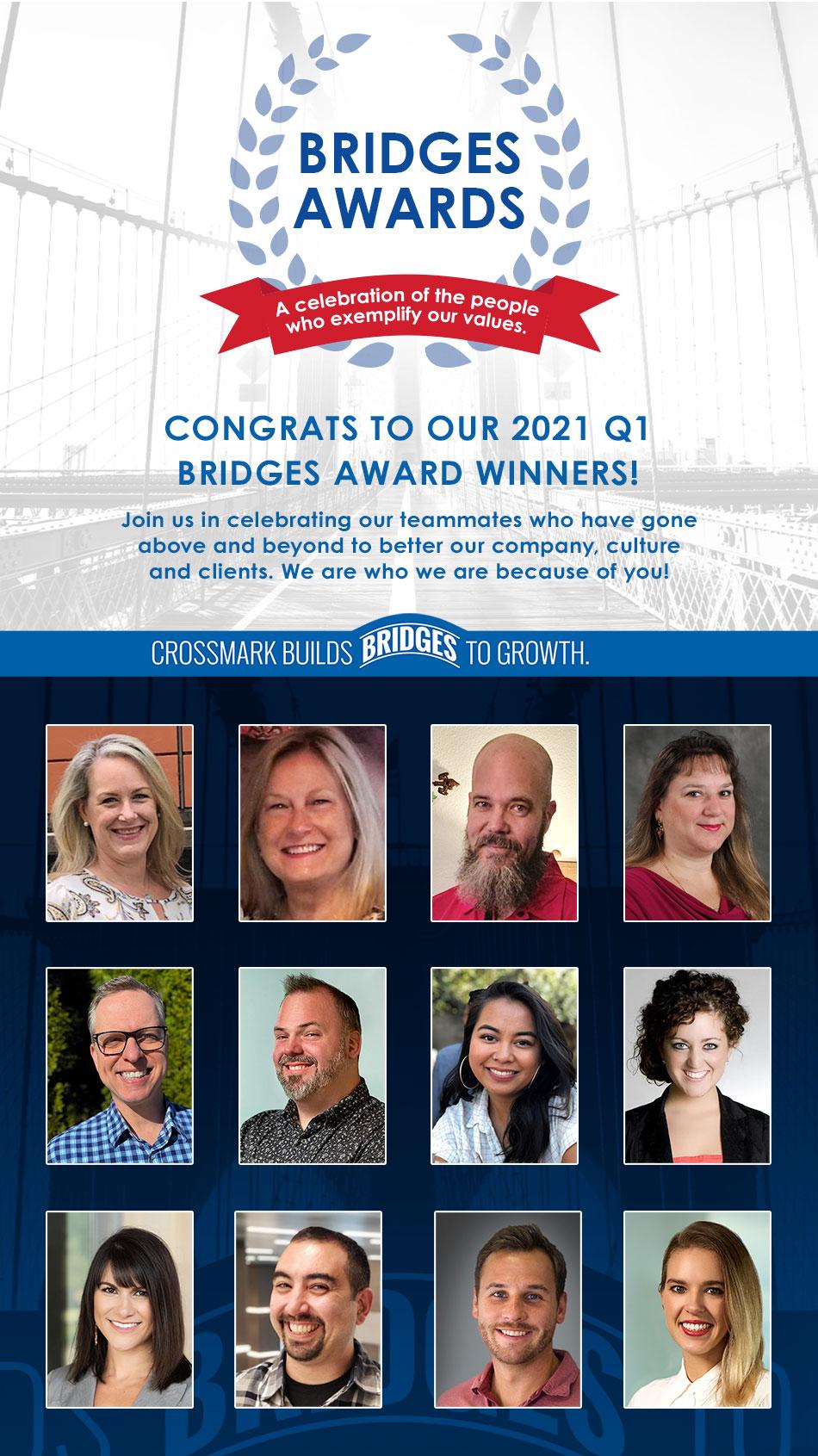 CROSSMARK Q1 2021 BRIDGES Award Winners Named